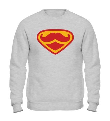 Свитшот Moustache Superman