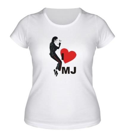 Женская футболка I Love Michael Jackson