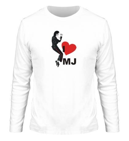 Мужской лонгслив I Love Michael Jackson