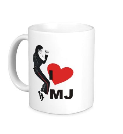 Керамическая кружка I Love Michael Jackson