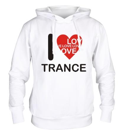 Толстовка с капюшоном Trance we Love
