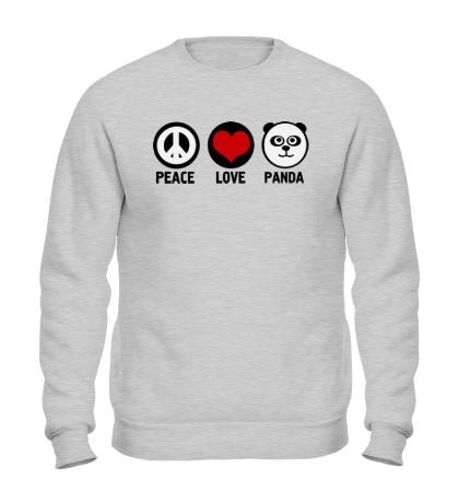 Свитшот Peace love panda