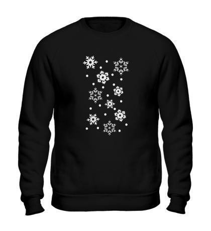 Свитшот Веселые снежинки