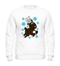 Свитшот Олень и снежинки