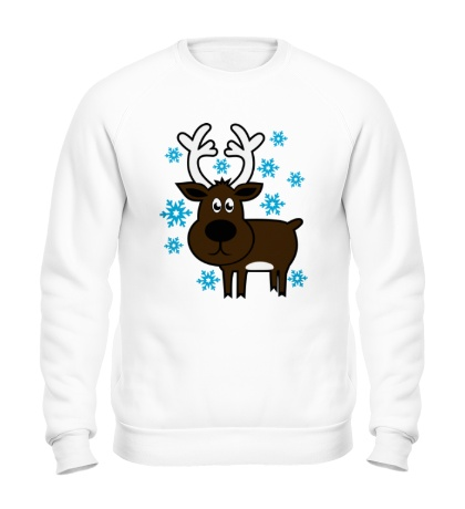 Свитшот Олень со снежинками