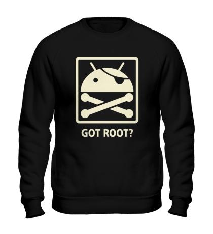 Свитшот Got root? glow