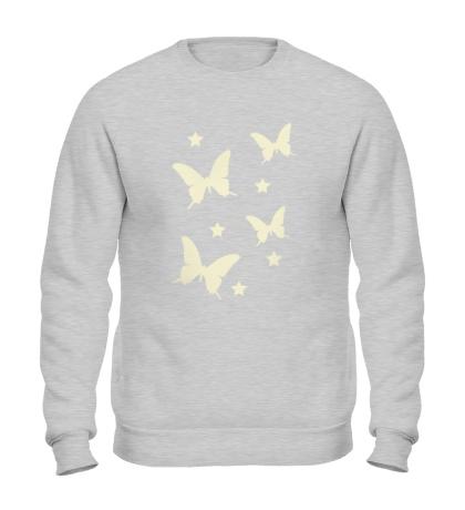 Свитшот Светящиеся бабочки
