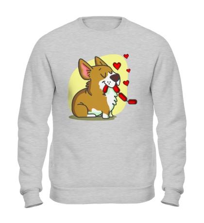 Свитшот Влюбленные собачки, для него