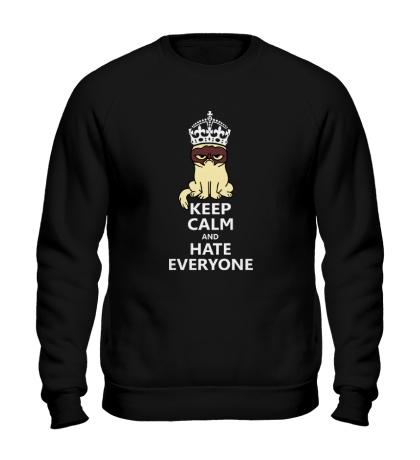 Свитшот Keep calm and hate everyone