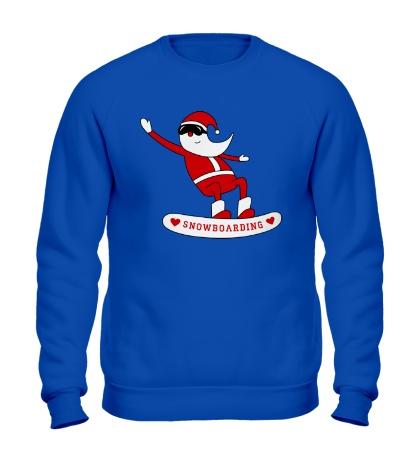 Свитшот Санта сноубордист