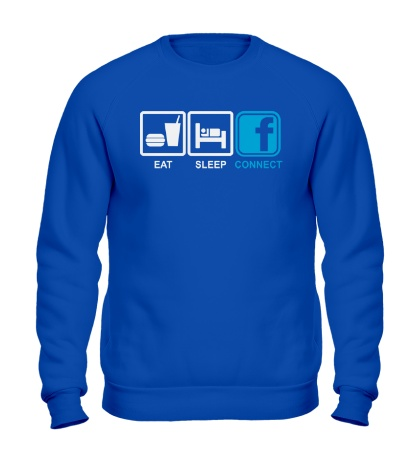 Свитшот Eat, sleep, facebook