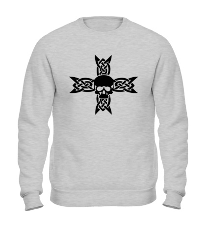 Свитшот Череп на кельтском кресте