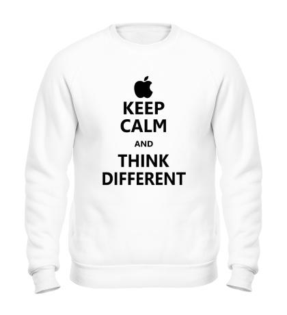 Свитшот Keep calm and think different