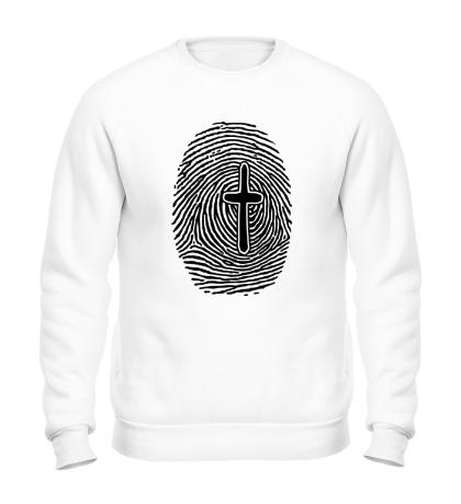 Свитшот Отпечаток пальца с крестом