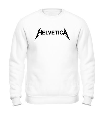 Свитшот Helvetica Metallica