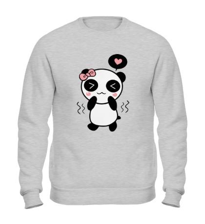Свитшот Влюбленная панда девочка