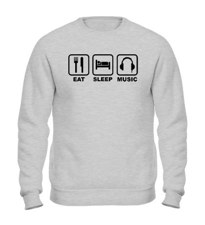 Свитшот Eat Sleep Music