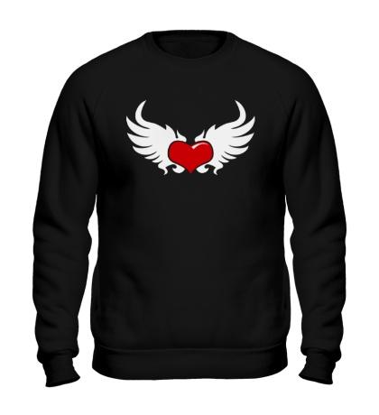 Свитшот Сердце с крыльями