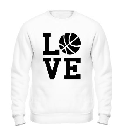 Свитшот Влюблен в баскетбол