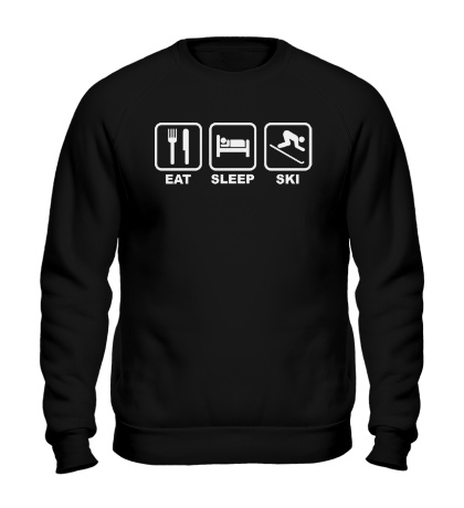 Свитшот Eat Sleep Ski