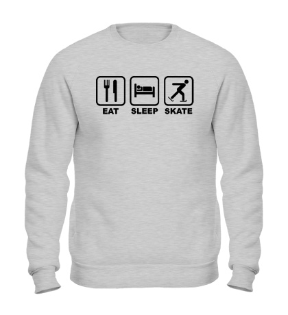 Свитшот Eat sleep skate