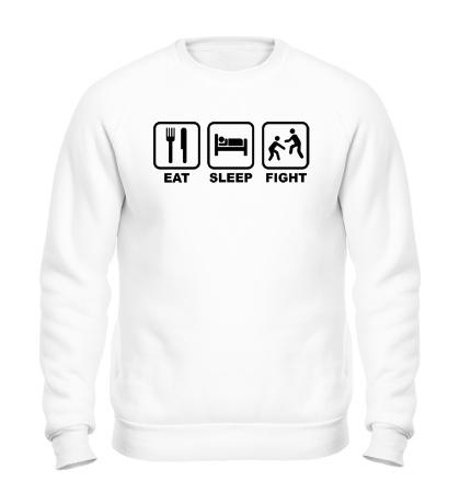 Свитшот Eat Sleep Fight