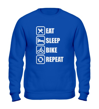 Свитшот Eat sleep bike repeat