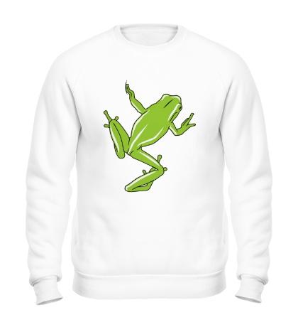 Свитшот Зеленая лягушка