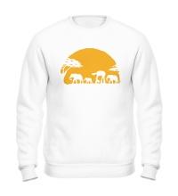 Свитшот Слоны на закате