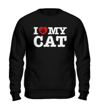 Свитшот I love my Cat