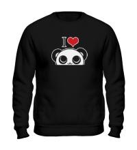 Свитшот Я люблю панд