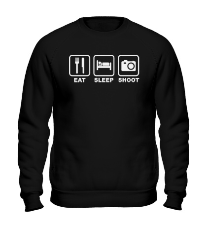 Свитшот Eat Sleep Shoot