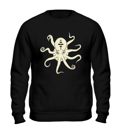 Свитшот Гигантский осьминог, свет