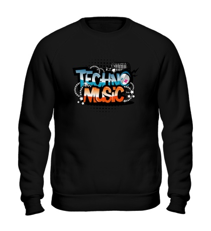 Свитшот Techno music