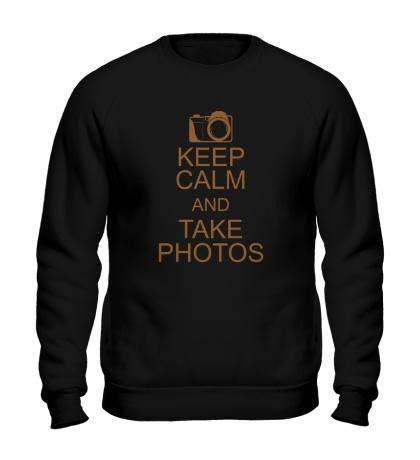 Свитшот Keep Calm and take photos