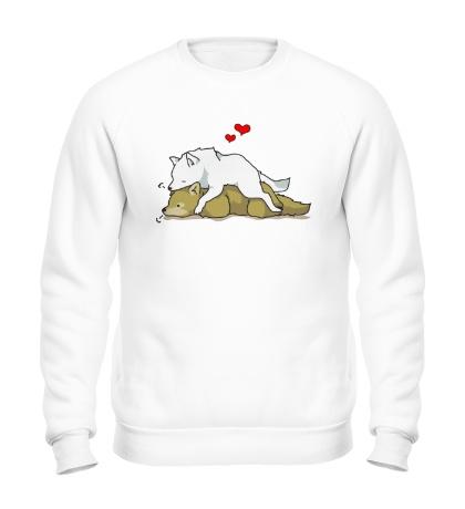 Свитшот Влюбленные волки
