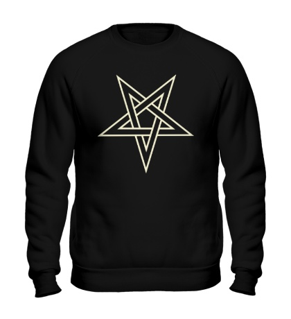 Свитшот Звезда-пентаграмма, свет