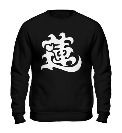 Свитшот Лотос: японский иероглиф