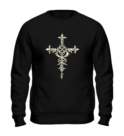 Свитшот Готический крест, свет