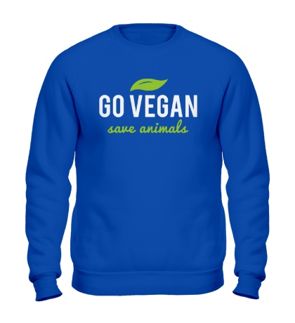 Свитшот Go Vegan Save Animals