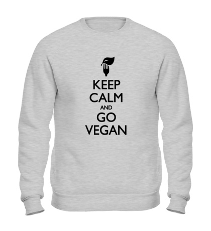 Свитшот Keep Calm and go Vegan