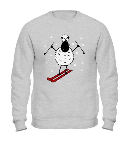 Свитшот Овечка на лыжах