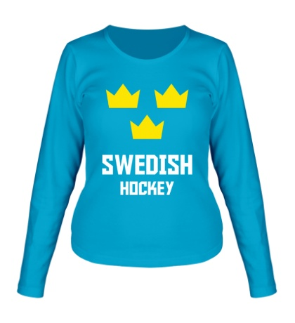 Женский лонгслив Swedish Hockey