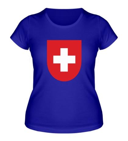 Женская футболка Switzerland Coat