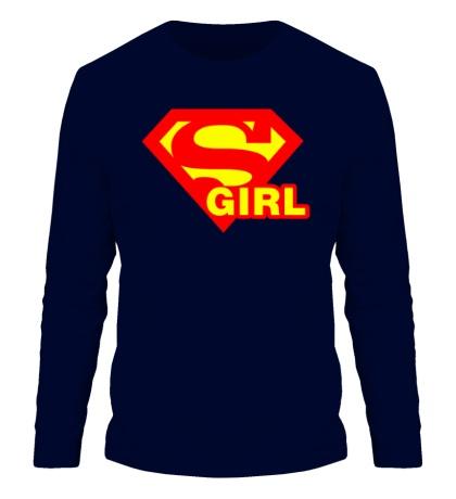 Мужской лонгслив Supergirl