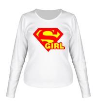 Женский лонгслив Supergirl