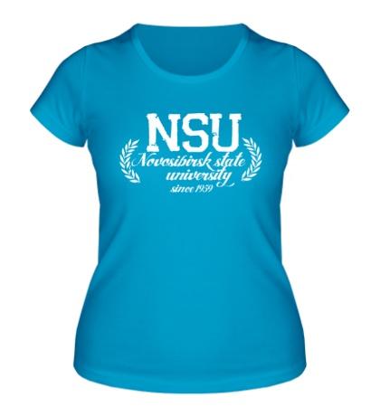 Женская футболка НГУ Университет
