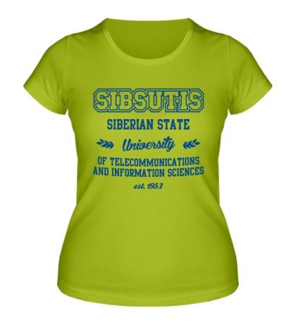Женская футболка СибГУТИ Университет