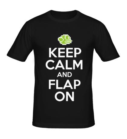 Мужская футболка Keep Calm & Flap On