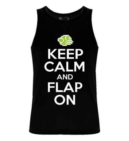 Мужская майка Keep Calm & Flap On